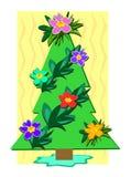 Tropical Christmas Tree Royalty Free Stock Photos