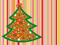 Tropical christmas tree royalty free illustration