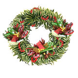 Tropical Christmas wreath Royalty Free Stock Photography