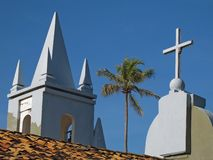 Tropical church royalty free stock image