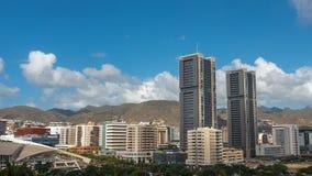 Tropical city landscape. City Panorama. Tenerife. Timelapse. stock footage