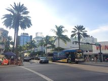 Tropical city street Stock Photography
