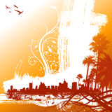 Tropical city vector Stock Photography