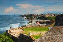 Tropical city view. City view of Old San Juan, Puerto Rico Stock Images
