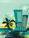 Tropical cityscape background Stock Photography