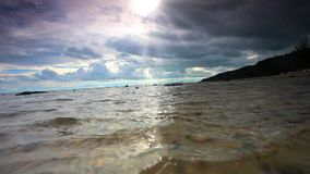 Tropical cloudy day on the beach in Koh Samui. Thailand stock video footage