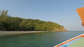 Tropical coast on ko lanta island. Boat trip on ko lanta island in thailand stock footage