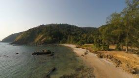 Tropical coast on ko lanta island. In thailand stock footage