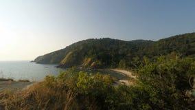 Tropical coast on ko lanta island. In thailand stock video