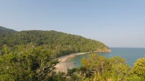 Tropical coast on ko lanta island. In thailand stock video footage