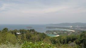 Tropical coast on ko lanta island stock video footage