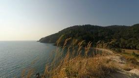 Tropical coast on ko lanta island. Viewpoint on ko lanta island in thailand stock video