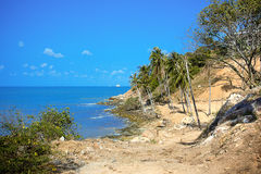 Tropical coast in koh Samui with stones Stock Images