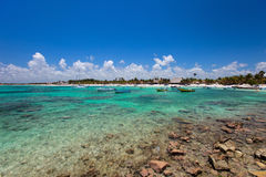 Tropical coast in Mexico Stock Photography