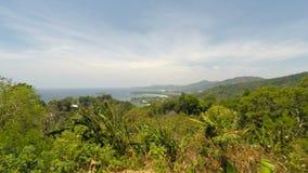 Tropical coast on phuket island in thailand stock footage