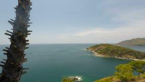 Tropical coast on phuket island in thailand stock video footage