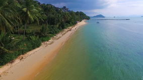 Tropical Coast on Samui island in Thailand, Aerial View stock video