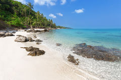 Tropical coast with white sand Royalty Free Stock Photos
