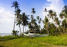 Tropical coastal landscape Royalty Free Stock Images
