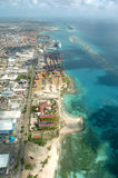 Tropical Coastline. Viewed from air Royalty Free Stock Image