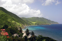 Tropical Coastline. A view of a beautiful mountainous coastline in the tropics Stock Image