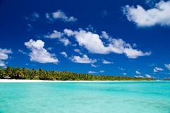 Tropical Coastline. Of an maldivian island Stock Photos