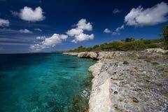 Tropical coastline, Bonaire Royalty Free Stock Photos