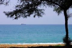 Tropical coastline on caribbean sea Royalty Free Stock Photo