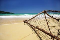 Tropical coastline on caribbean sea Stock Photo