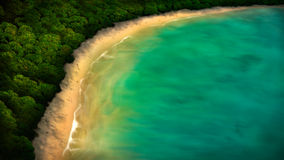 Tropical Coastline Digital Painting. Digital painting of a tropical coastline from an aerial view Royalty Free Stock Photography
