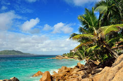 Tropical coastline on Seychelles island Royalty Free Stock Photography