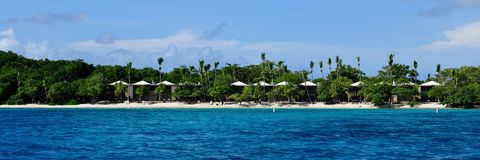 Tropical Coastline on St. John, US Virgin Island Stock Photo