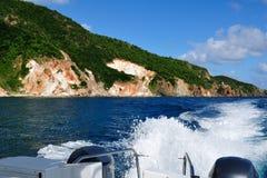 Tropical Coastline on St. John, US Virgin Island Stock Photos