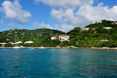 Tropical Coastline on St. John, US Virgin Island Royalty Free Stock Image