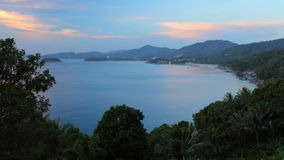 Tropical coastline. Time lapse of tropical coastline. Phuket, Thailand stock video