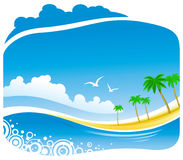 Tropical  Coastline View Stock Photo