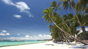 Tropical coastline with white sand, Philippines, Boracay stock video footage