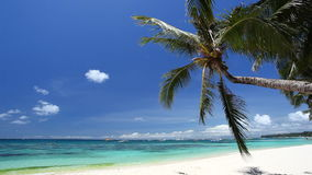Tropical coastline with white sand, Philippines, Boracay stock video