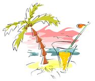 tropical cocktail Stock Images