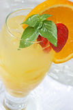 Tropical Cocktail. With ice and fruit garnish Stock Photo