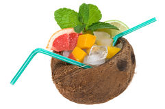 Tropical cocktail with coconut Stock Images