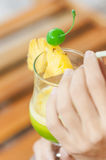 Tropical cocktail drink Stock Image
