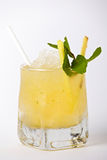 Tropical cocktail drink with ice and mint Stock Images
