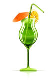 Tropical cocktail in glass Royalty Free Stock Images