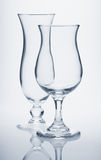Tropical cocktail glasses Stock Image