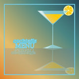 Tropical cocktail with orange and bubbles Stock Photos