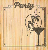 Tropical Cocktail Party Invitation Royalty Free Stock Photo