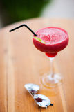 Tropical cocktail and sun glasses stock images