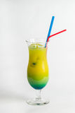 Tropical cocktail on white background.  Stock Images