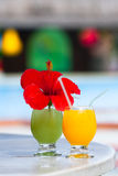 Tropical cocktails Royalty Free Stock Photos